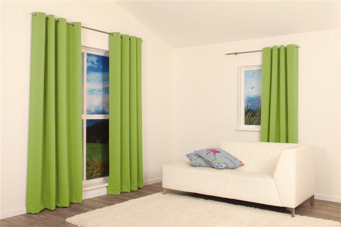 Groene gordijnen Exeter limegroen