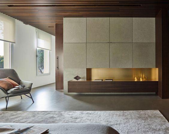 woonkamer beton/goud