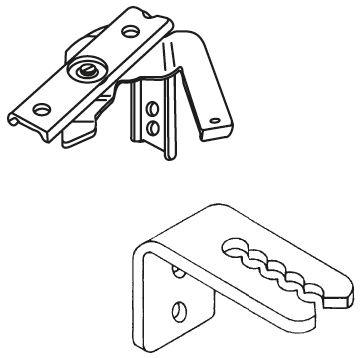 Standaard steunen ingespannen jaloezie 35-50mm