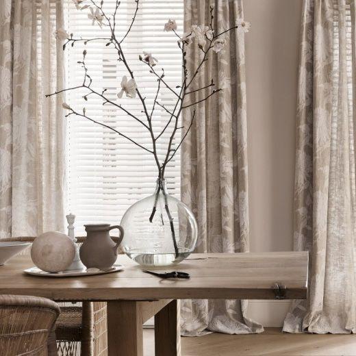 houten jaloezie met gordijn houten jaloezie woonkamer houten jaloezie naturel
