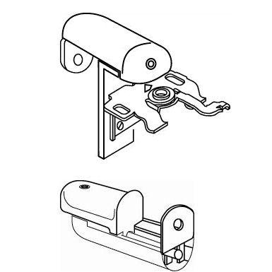 Klemsteun boven en onder HJ alu 16-25mm