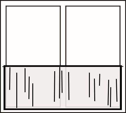 Valletjes dubbel raam, val onder