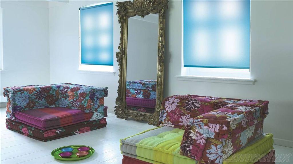 Woonkamer Groen Blauw: Blauwe bank woonkamer living room with ...
