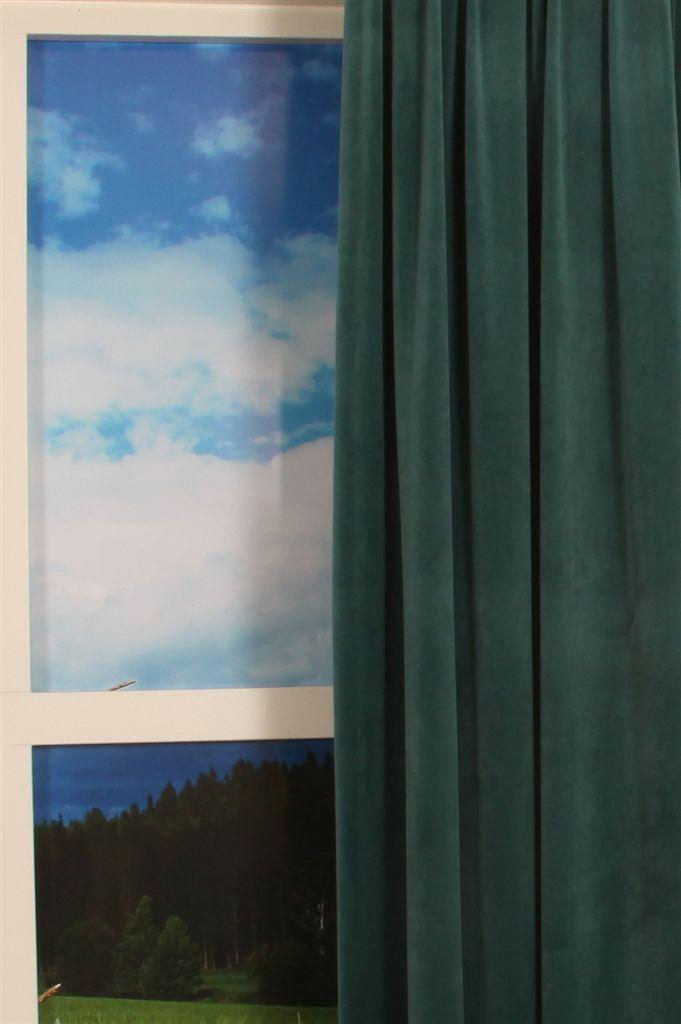 Silky Velours blauwgroen