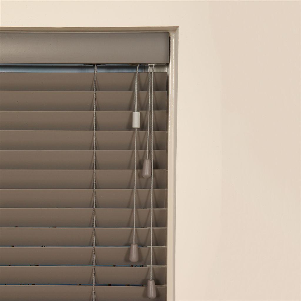 houten jaloezie 50mm wit